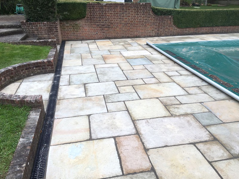 Decorative Paving around Pool