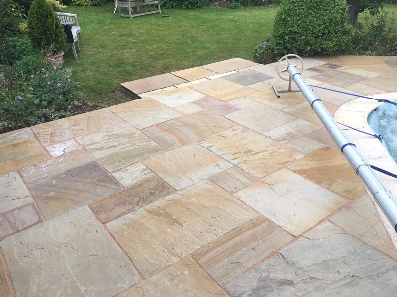 Sandstone Concrete Paving Renovation