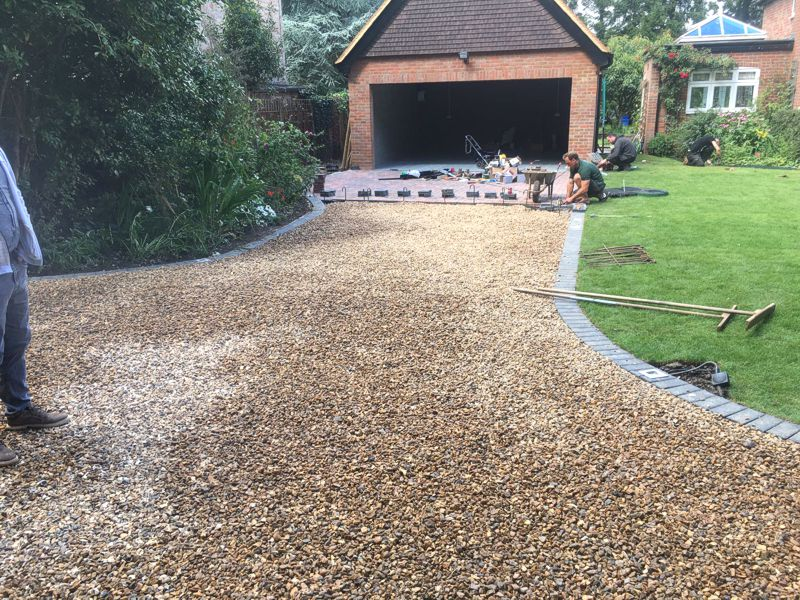 Gravel Driveway and Block Paving Work in Progress