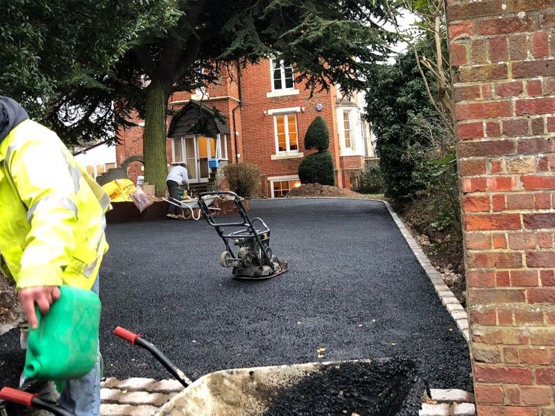 Tarmac is a low cost, durable solution covering large areas of space